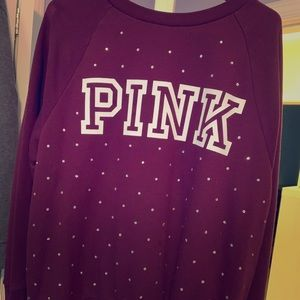 Victoria secret pink sweater BLING